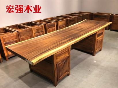 实木大板书桌