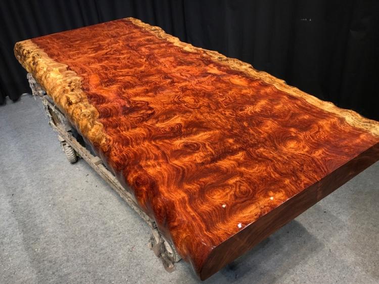 天津巴花实木大板桌