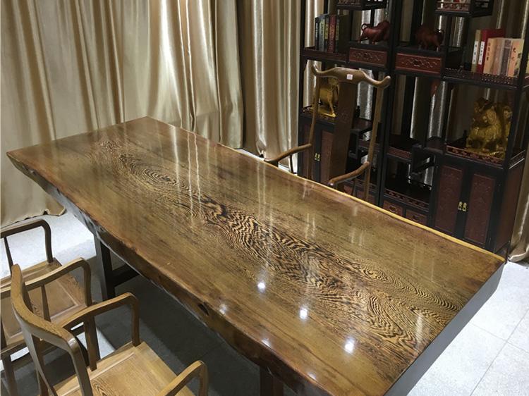 天津鸡翅木实木大板桌