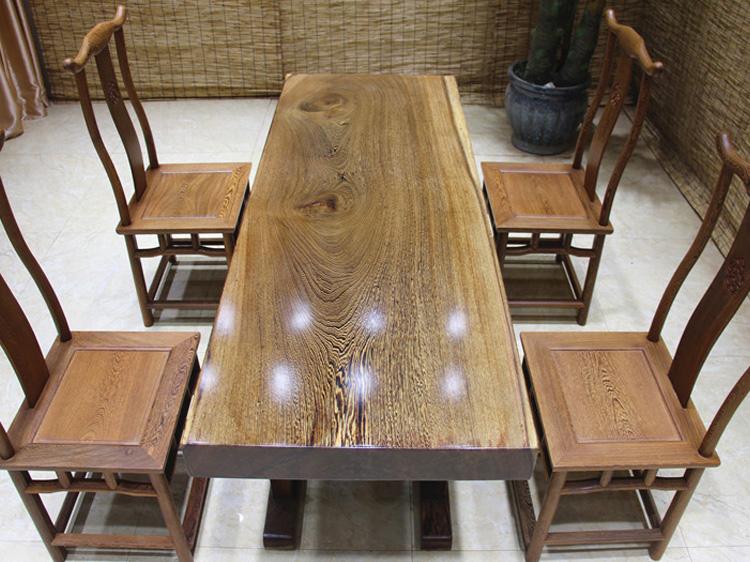 石家庄鸡翅木实木大板桌