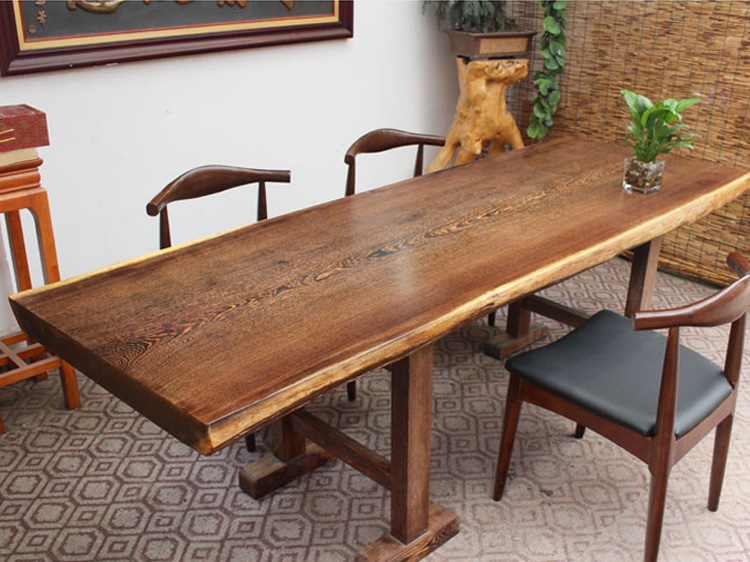 邯郸鸡翅木实木大板桌