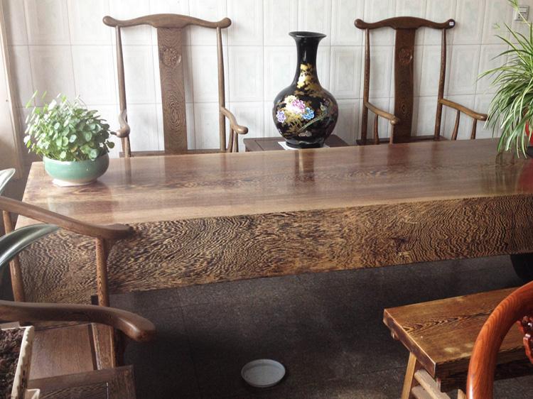 安徽鸡翅木实木大板桌