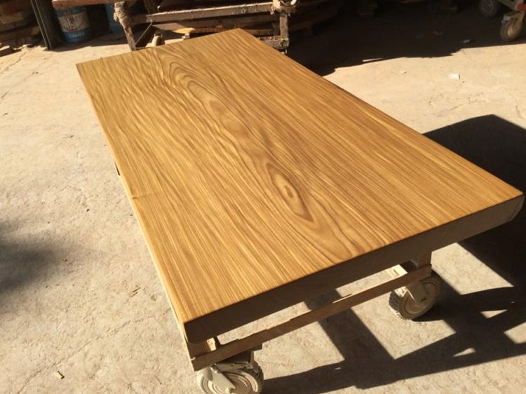 石家庄柚木实木大板桌