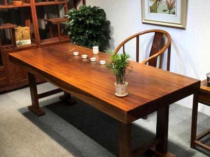奥坎实木大板桌