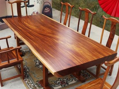 奥坎实木大板桌价格