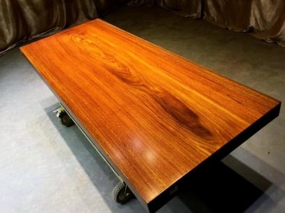 山东奥坎实木大板桌
