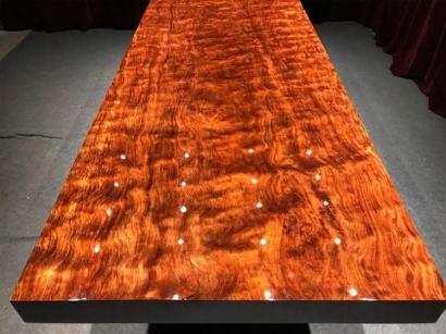 河南巴花实木大板桌