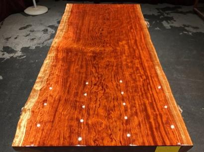 山西巴花实木大板桌