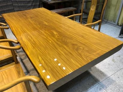 山东柚木实木大板桌