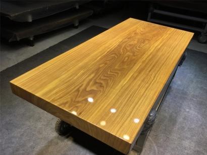 聊城柚木实木大板桌