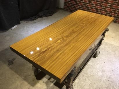 河北柚木实木大板桌