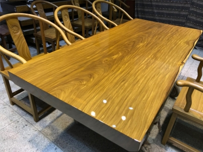 陕西柚木实木大板桌