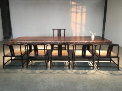 黑檀木大板桌