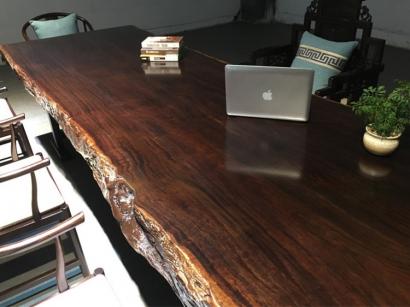 山东黑檀木大板桌