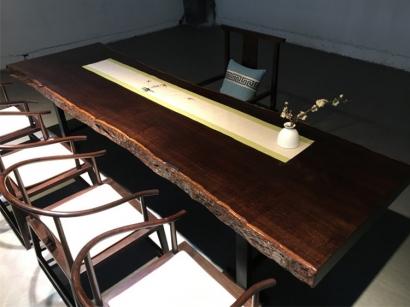 聊城黑檀木大板桌