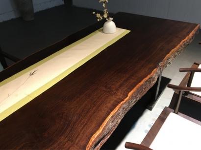 河北黑檀木大板桌