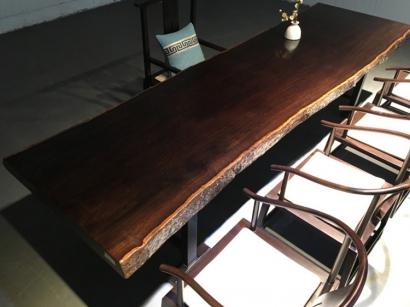 河南黑檀木大板桌