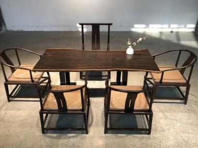 天津黑檀木大板桌