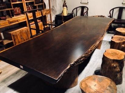 石家庄黑檀木大板桌