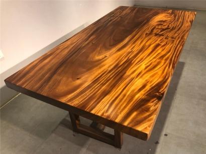 山东胡桃木大板桌